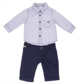 Baby Boy Smart Shirt and Trouser Set