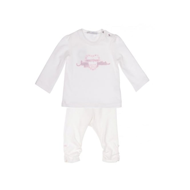 Gymp Baby Girl Off White Top and Legging Set