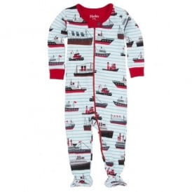 Baby Boy Ocean Liner Footed Coverall