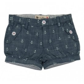 Girls Bloomer Anchor Shorts