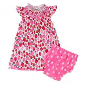 Mini Girls Strawberry Sundae Smocked Dress