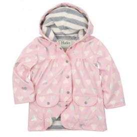 Rainwear Girls Metallic Hearts Raincoat