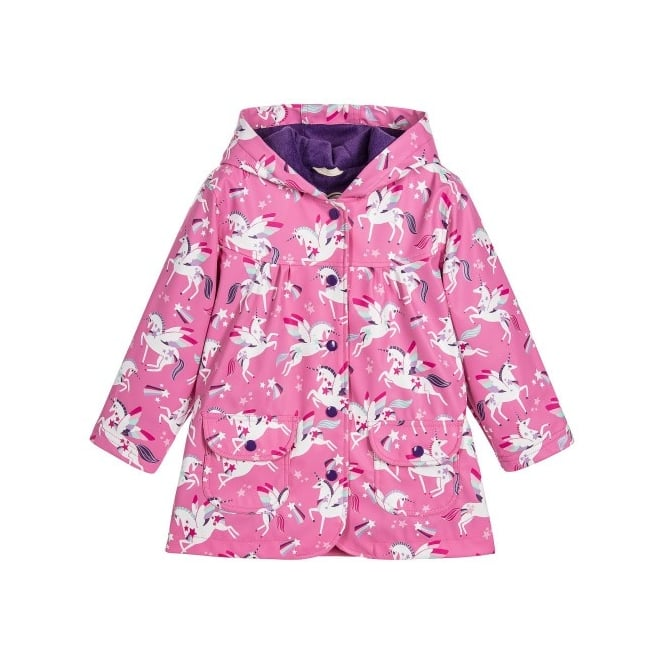 Hatley Rainwear Girls Rainbow Unicorn Raincoat
