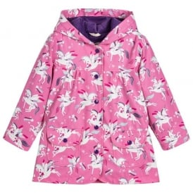 Rainwear Girls Rainbow Unicorn Raincoat