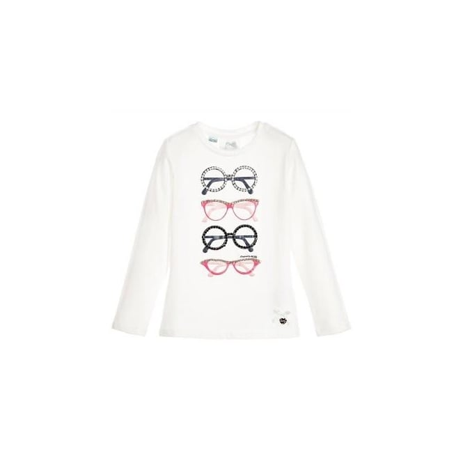Le Chic Girls Long Sleeved Glasses T-shirt