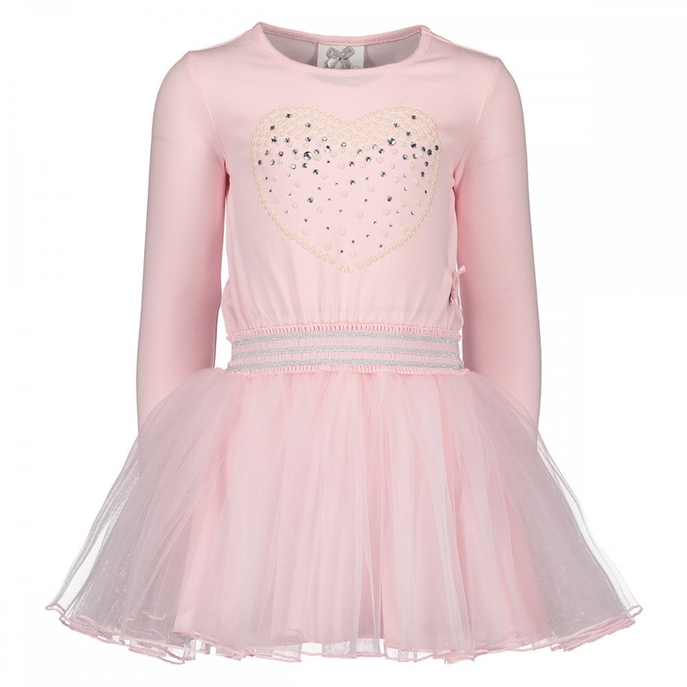 7b4fd115dd6 Le-Chic-Girls-Pale-Pink-Cotton-and-Tulle-Dress