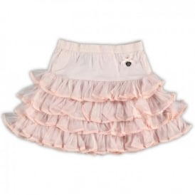 Girls Pink Frill Skirt
