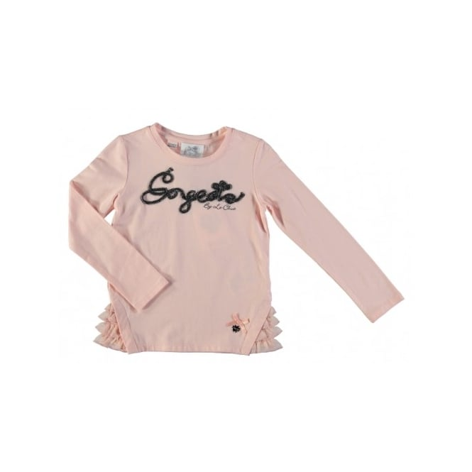Le Chic Girls Pink 'Gorgeous' T-Shirt