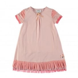 8664d853d71 Girls Pink Jersey Dress with Tulle Ruffles CLEARANCE SALE. Le Chic ...