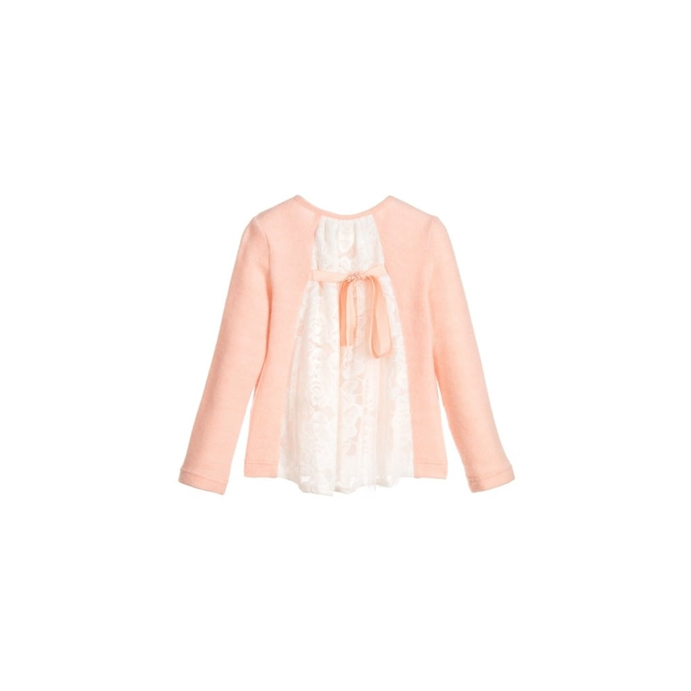 Le-Chic-Girls-Pink-Lace-Back-Cardigan