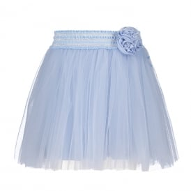 Girls Powder Blue Skirt