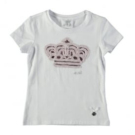 ad49d6c2f Girls Powder Pink Crown Detail T-shirt CLEARANCE SALE