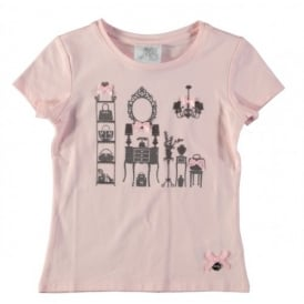 Girls Powder Pink T-shirt