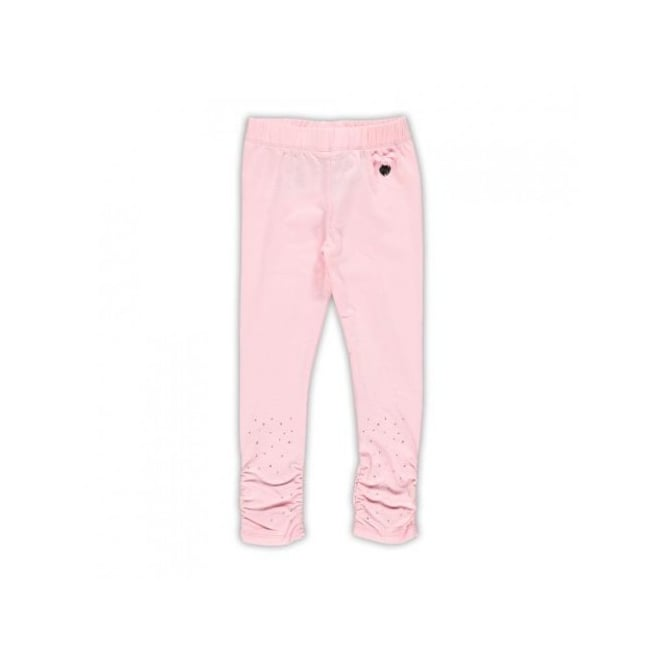 Le Chic Girls Rhinestone Legging in Pink