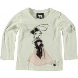 Girls T-shirt with Pink Detail