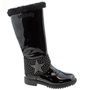Betty Black Fur Lined Boots