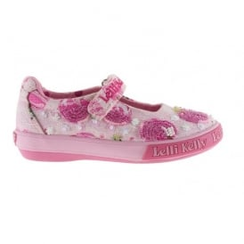 Cherry Lace Dolly Canvas Shoe 9162