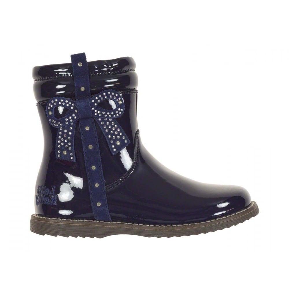 Lelli-Kelly-Felicia-Navy-Patent-Boot-LK7308