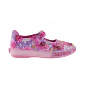 Lilac Fantasia Dolly Canvas Shoe 9102