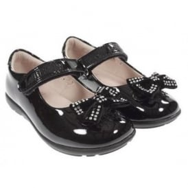 School Shoe Adele with Hair Bow LK8204