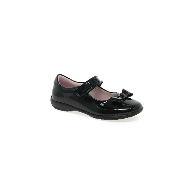 Lelli Kelly School Shoe Perrie Black Patent with Bow LK8206