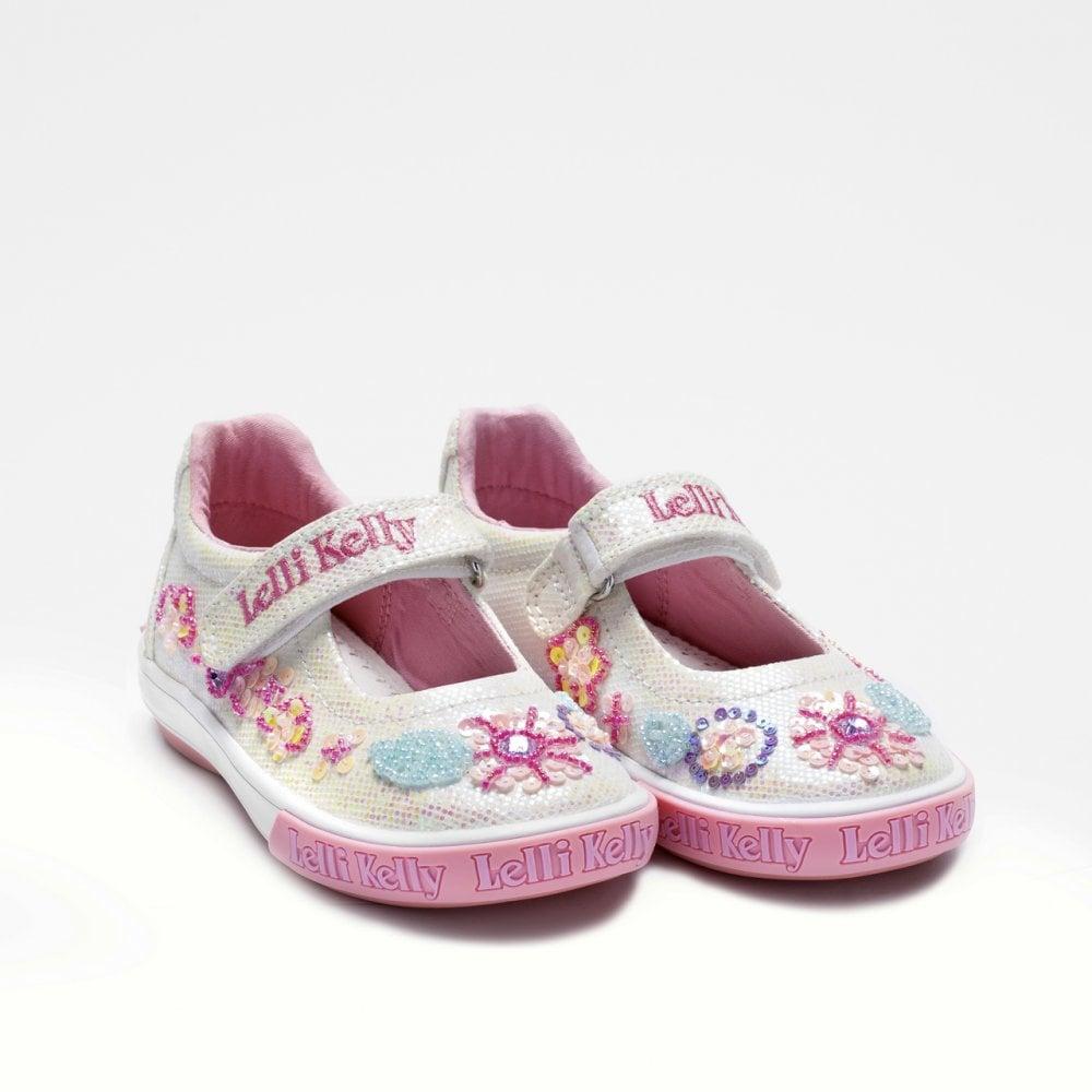 Lelli-Kelly-White-Glitter-Daisy-Canvas-9080