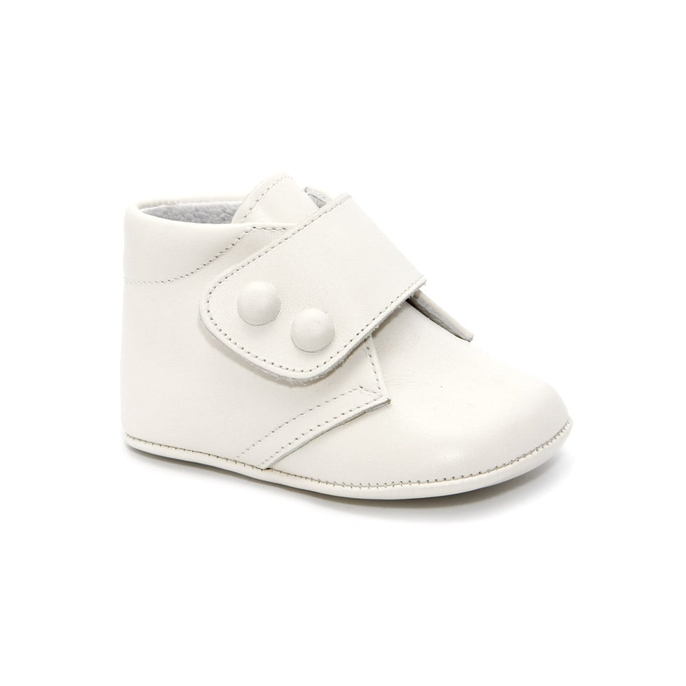 Leon-Baby-White-Leather-Pram-Bootie