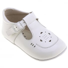 Baby Boy White Patent Leather Pram Shoe