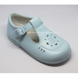 Boys Pale Blue Leather Shoe