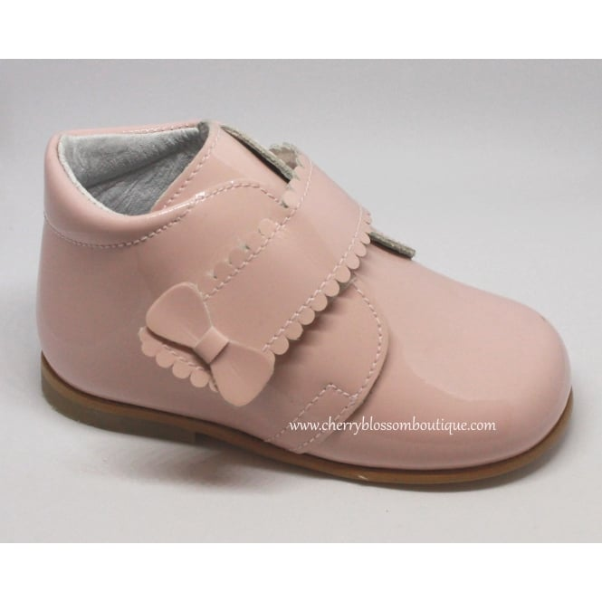 Leon Shoes Girls Patent Boot in Pink