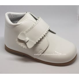 Girls Patent Boot in White