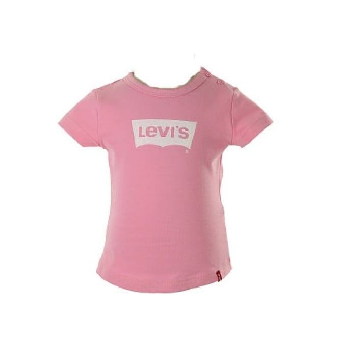 Levis Baby Girl Classic T-shirt in Old Pink