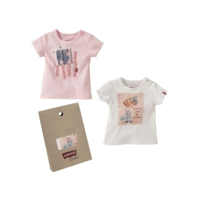 Levis Baby Girl Pack of Two T-shirts