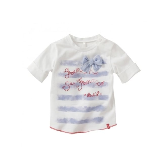 Levis Baby Girl White Bow T-shirt