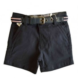 Baby Boy Navy Shorts with Belt