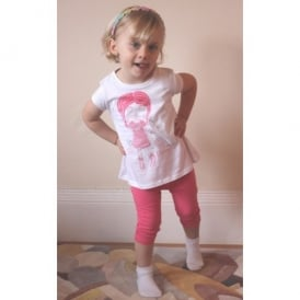 Girls T-shirt and Pink Legging Set