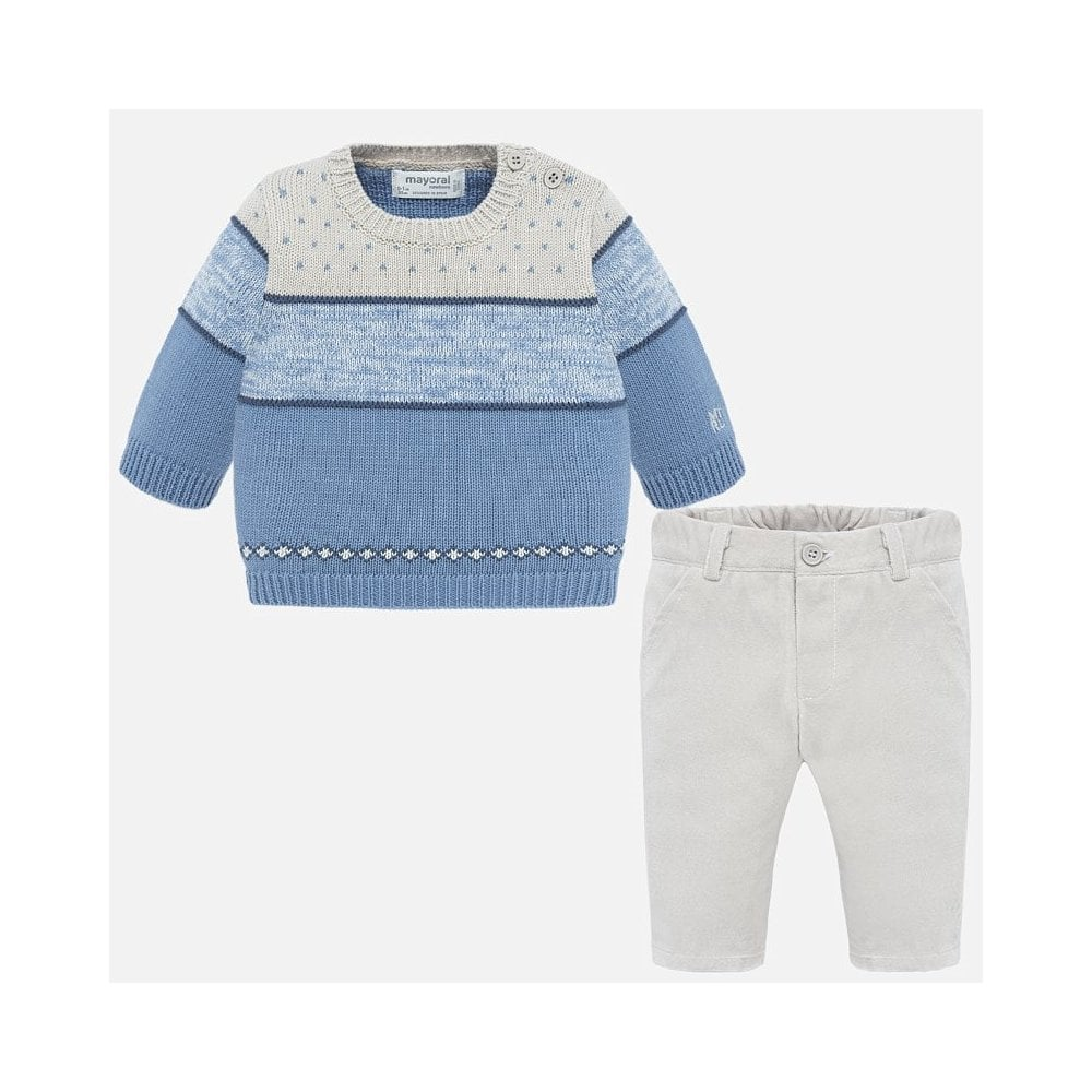 Mayoral Baby Boy Grey Trousers and Sweater Set