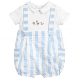 e74dd1bae13 Baby Boy Sky Blue Striped Dungaree NEW SEASON