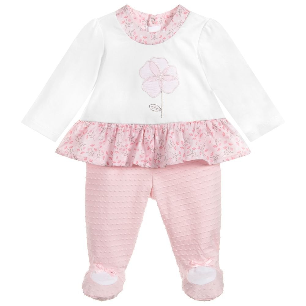 0d9a55680 Mayoral-Baby-Girl-Pink-and-White-2pc-Babygrow