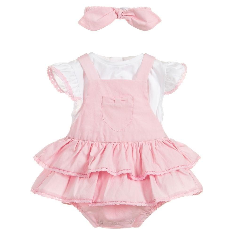 c2783fb9b1b0 Mayoral-Baby-Girl-Pink-Dungaree-Skirt-Set