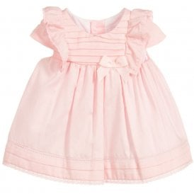 fbef49243a0 Baby Girl Pink Flared Satin Dress NEW SEASON