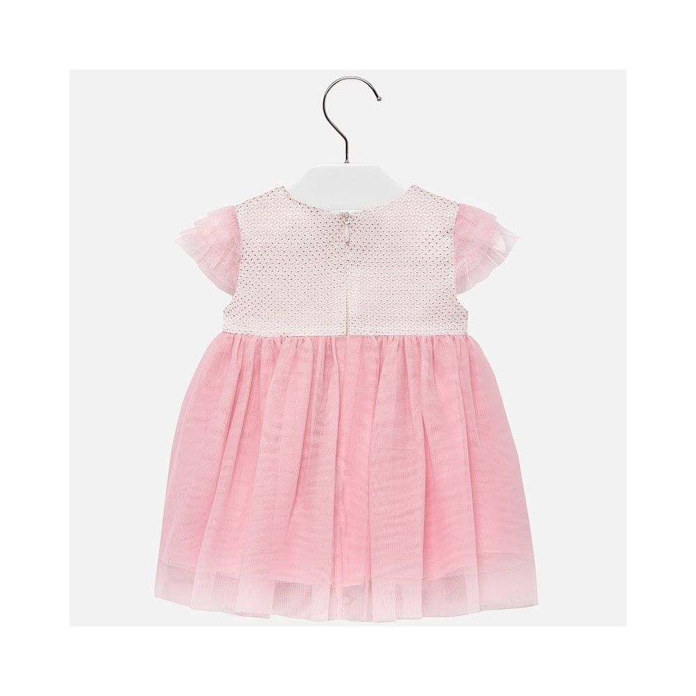 Designer MAYORAL Baby Girls Pink//White Dress Fully lined WAS £35 NOW £16 SALE
