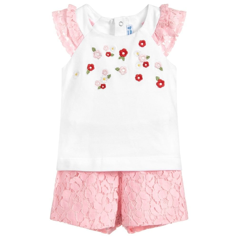 7ef8da0d Mayoral-Baby-Girl-Pink-Lace-Shorts-Set