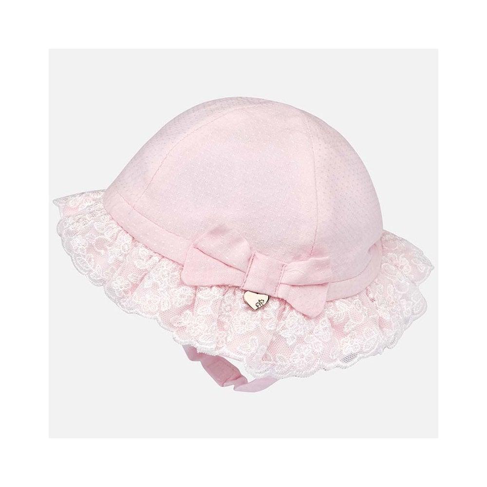 05c2fbcad87 Mayoral-Baby-Girls-Pink-Dressy-Sun-Hat