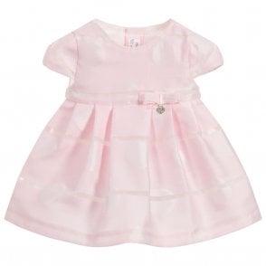 9b63fb980 Baby Girls Pink Polka Dot Dress and Knickers