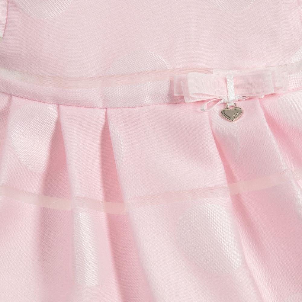 336359957509 Mayoral-Newborn-Baby-Girls-Pink-Polka-Dot-Dress-and-Knickers