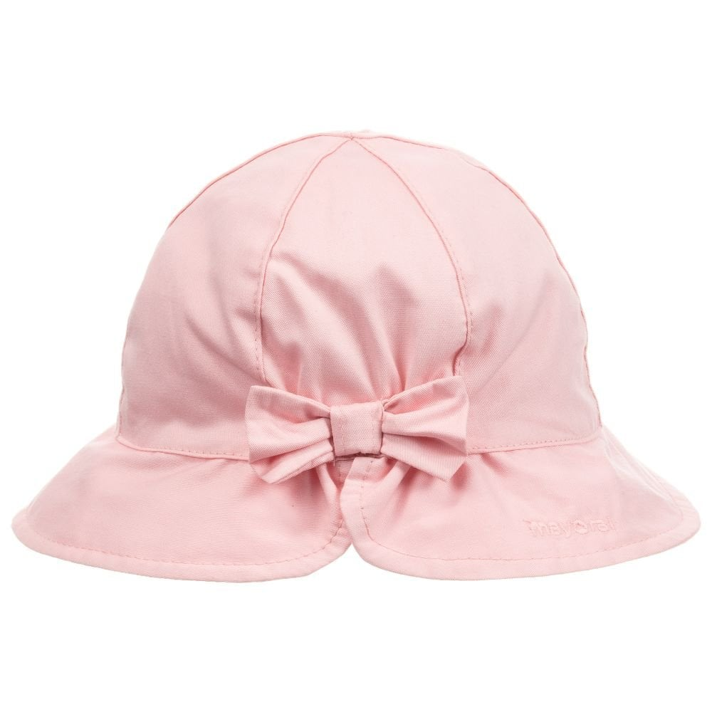 Mayoral Pink Sun Hat for Baby Girl