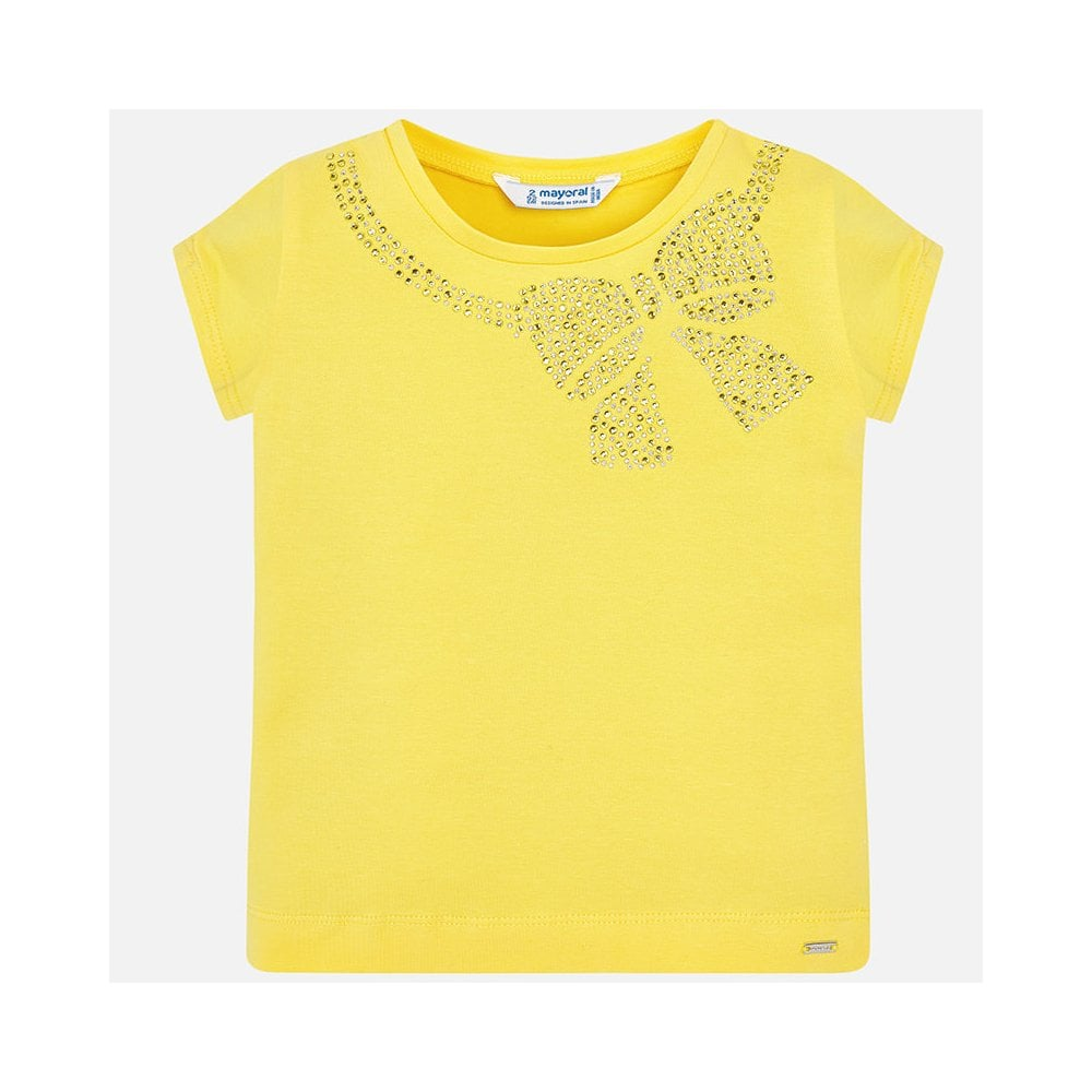 833d82e92c1c64 Mayoral-Girls-Short-Sleeve-T-shirt-with-Bow-in-Yellow