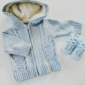 Baby Boy Fur Lined Hooded Jacket