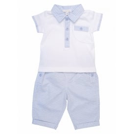 Baby Boy Polo and Stripe Trouser Set